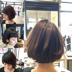 ストリート 大人かわいい 大人女子 前下がり ヘアスタイルや髪型の写真・画像