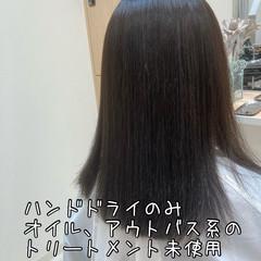 ダメージレス ツヤ髪 ナチュラル ストレート ヘアスタイルや髪型の写真・画像