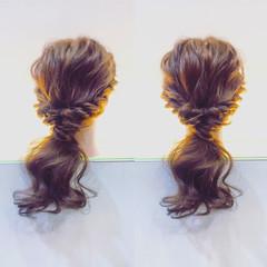 簡単ヘアアレンジ ショート ミディアム フェミニン ヘアスタイルや髪型の写真・画像