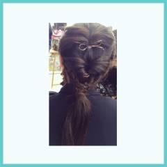 時短 ヘアアレンジ モテ髪 ロング ヘアスタイルや髪型の写真・画像