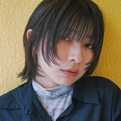 モード ウルフカット ボブ ミニボブ ヘアスタイルや髪型の写真・画像