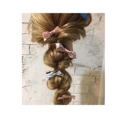 大人かわいい 結婚式 ロング ヘアアレンジ ヘアスタイルや髪型の写真・画像