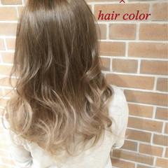 アッシュ グラデーションカラー 外国人風 ハイライト ヘアスタイルや髪型の写真・画像