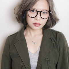 外国人風 ハイライト アッシュ グラデーションカラー ヘアスタイルや髪型の写真・画像
