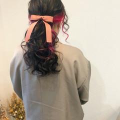 ポニーテールアレンジ ローポニー ヘアセット ヘアアレンジ ヘアスタイルや髪型の写真・画像