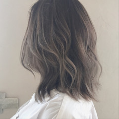 外国人風カラー 透明感 エレガント 秋 ヘアスタイルや髪型の写真・画像