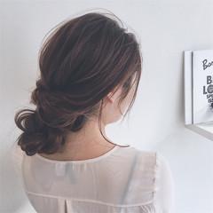 ショート 簡単ヘアアレンジ グラデーションカラー ミディアム ヘアスタイルや髪型の写真・画像