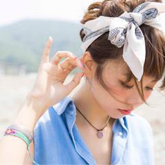 ミディアム ショート ゆるふわ 簡単ヘアアレンジ ヘアスタイルや髪型の写真・画像