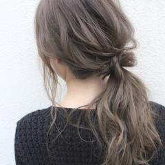 抜け感 ナチュラル デート セミロング ヘアスタイルや髪型の写真・画像