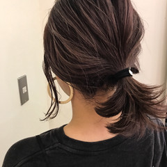 ヘアアレンジ ミディアム 透明感 秋 ヘアスタイルや髪型の写真・画像