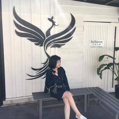 黒髪 前髪パッツン ガーリー ショート ヘアスタイルや髪型の写真・画像
