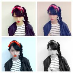 三つ編み 秋 ストリート ヘアアレンジ ヘアスタイルや髪型の写真・画像