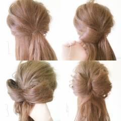 ヘアアレンジ コンサバ ガーリー 卵型 ヘアスタイルや髪型の写真・画像