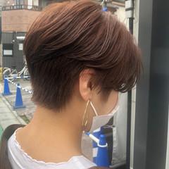 ハンサムショート ブリーチ ショートヘア ナチュラル ヘアスタイルや髪型の写真・画像