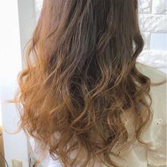 グラデーションカラー 外国人風カラー ダブルカラー ロング ヘアスタイルや髪型の写真・画像