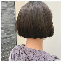 切りっぱなしボブ ショートボブ ナチュラル ボブヘアー ヘアスタイルや髪型の写真・画像