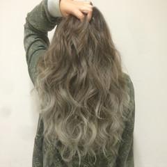 渋谷系 ハイトーン ロング 外国人風 ヘアスタイルや髪型の写真・画像