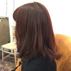 ピンク 透明感 ナチュラル 秋 ヘアスタイルや髪型の写真・画像