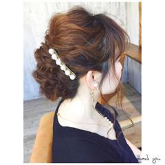 編み込み ヘアアレンジ ショート 簡単ヘアアレンジ ヘアスタイルや髪型の写真・画像