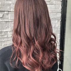イルミナカラー ピンク トワイライト ナチュラルグラデーション ヘアスタイルや髪型の写真・画像