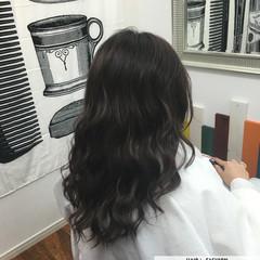 暗髪 黒髪 大人かわいい ロング ヘアスタイルや髪型の写真・画像