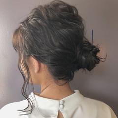 ナチュラル 透明感 ミディアム ヘアアレンジ ヘアスタイルや髪型の写真・画像