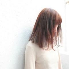 インナーカラー ロブ イルミナカラー ミディアム ヘアスタイルや髪型の写真・画像