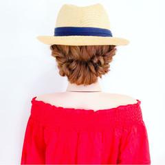 ヘアアレンジ 夏 簡単ヘアアレンジ 涼しげ ヘアスタイルや髪型の写真・画像