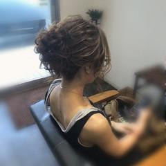 ヘアアレンジ エレガント 結婚式 ミディアム ヘアスタイルや髪型の写真・画像