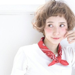 ハイライト パーマ ストリート レトロ ヘアスタイルや髪型の写真・画像