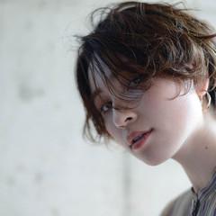 ショートボブ ショート ショートヘア ゆる巻き ヘアスタイルや髪型の写真・画像