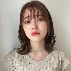 ミディアムレイヤー ミディアム モテ髪 ウルフレイヤー ヘアスタイルや髪型の写真・画像