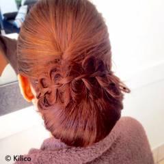 アップスタイル ヘアアレンジ ブライダル コンサバ ヘアスタイルや髪型の写真・画像