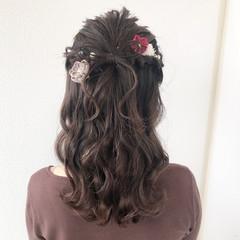 成人式ヘア ガーリー ヘアセット ヘアアレンジ ヘアスタイルや髪型の写真・画像