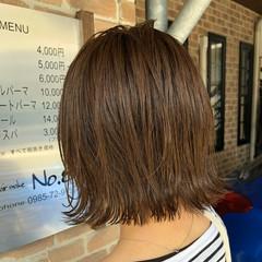 切りっぱなしボブ オフィス 簡単ヘアアレンジ ヘアアレンジ ヘアスタイルや髪型の写真・画像