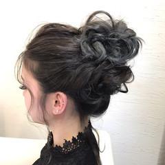ナチュラル ルーズ ヘアアレンジ お団子 ヘアスタイルや髪型の写真・画像