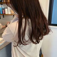 大人ロング ロング 赤髪 ロングヘア ヘアスタイルや髪型の写真・画像