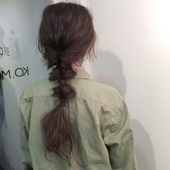ラフ アッシュ ストリート ウェーブ ヘアスタイルや髪型の写真・画像