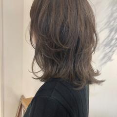 インナーカラー ナチュラル ミディアム ワンカール ヘアスタイルや髪型の写真・画像