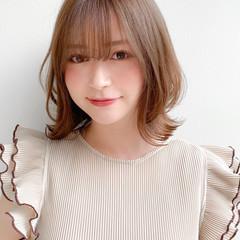 外ハネボブ モテ髪 レイヤースタイル 大人可愛い ヘアスタイルや髪型の写真・画像