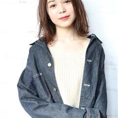 謝恩会 デート ボブ ナチュラル ヘアスタイルや髪型の写真・画像