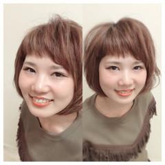 ショート 色気 ボブ ナチュラル ヘアスタイルや髪型の写真・画像