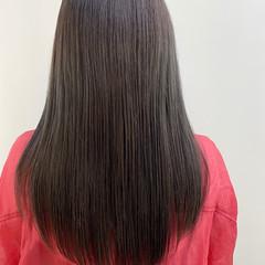 アッシュグレー ナチュラル ダークグレー 透明感カラー ヘアスタイルや髪型の写真・画像