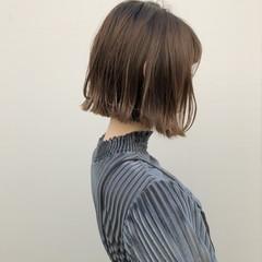 ショートボブ ボブ イルミナカラー ショートヘア ヘアスタイルや髪型の写真・画像
