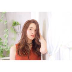 外国人風 ゆるふわ ロング フェミニン ヘアスタイルや髪型の写真・画像