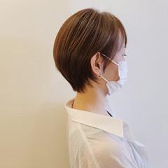 コンパクトショート 小顔ショート ナチュラル ショートヘア ヘアスタイルや髪型の写真・画像