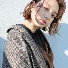 こなれ感 ボブ 外ハネ パーマ ヘアスタイルや髪型の写真・画像