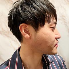 黒髪 簡単スタイリング メンズ ショート ヘアスタイルや髪型の写真・画像