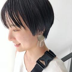 ショート ナチュラル エフォートレス 黒髪 ヘアスタイルや髪型の写真・画像