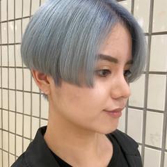 ショートヘア ショート 大人ショート ブルー ヘアスタイルや髪型の写真・画像